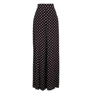 NWT Palazzo pants black polka dot wide leg
